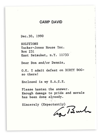 letter from Camp David
